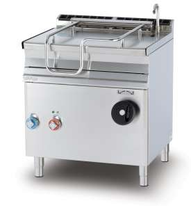 Electric 50 lts. manual tilt. brat pan Stainless steel bottom with lid