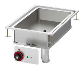 Electric multi-function fixed braising pan - Bowl cm. 30x51x10h