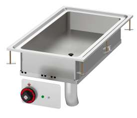 Electric multi-function fixed braising pan - Bowl cm. 30x68x10h