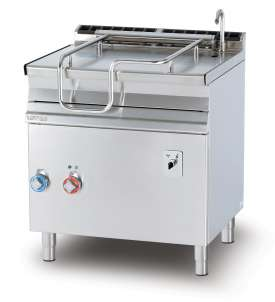 Electric 50 lts. automatic tilt. brat pan - Stainless steel bottom with lid