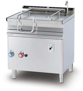 Gas 50 lts. automatic tilt. brat pan - Stainless steel bottom with lid