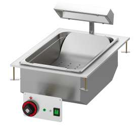 Fry dump singlephase with infra-red heater. Bowl cm. 30,5x51x16,5h with perforated double bottom