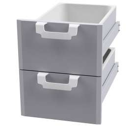 Drawer set 400 - N. 2 drawers with 2 GN 1/1 15h plastic containers, telescopic guides - magnet.