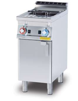 Gas pasta cooker 25 lts. Tank cm. 30,5x33,5x32,7h. Water loading cock + overflow device and floor draining (BASKETS EXCLUDED) (included 1 Head end filler strip mod.TPA-7)