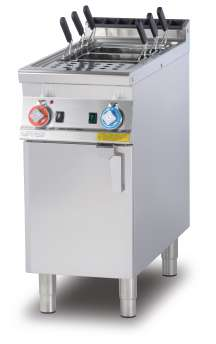 Gas pasta cooker 40 lts. - Tank cm. 30,7x50,9x32,7h. Water loading tap + overflow device and floor draining (BASKETS EXCLUDED) (included 1 Head end filler strip mod.TPA-9)
