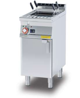Pasta cooker threephase 25 lts. Tank cm. 30,5x33,5x32,7h. Automatic Water loading with level sensor - overflow device and floor draining (BASKETS EXCLUDED) (included 1 Head end filler strip mod.TPA-7)