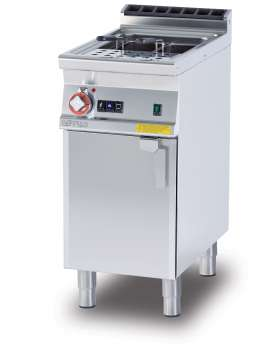 Gas pasta cooker 25 lts. Tank cm. 30,5x33,5x32,7h. Automatic Water loading with level sensor - overflow device and floor draining (BASKETS EXCLUDED) (included 1 Head end filler strip mod.TPA-7)