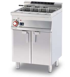 Pasta cooker threephase 40 lts. Tank cm. 51x30,7x32,7h. Automatic Water loading with level sensor - overflow device and floor draining (BASKETS EXCLUDED) (included 1 Head end filler strip mod.TPA-7)
