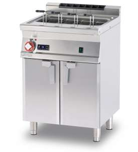 Gas pasta cooker 40 lts. Tank cm. 51x30,7x32,7h. Automatic Water loading with level sensor - overflow device and floor draining (BASKETS EXCLUDED) (included 1 Head end filler strip mod.TPA-7)