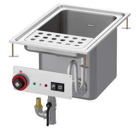 Pasta cooker threephase 25 lts. Tank cm. 30,5x33,5x32,7h. Automatic Water loading with level sensor - overflow device and floor draining (BASKETS EXCLUDED)