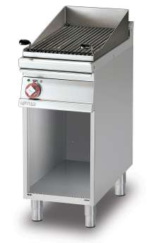 Grill threephase on open cabinet Stainless steel grill cm. 38x52  (included 1 Head end filler strip mod.TPA-7)