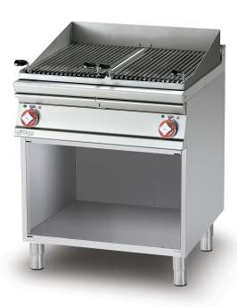 Grill threephase on open cabinet N. 2 Stainless steel grill cm. 38x52. 2 cooking areas (included 1 Head end filler strip mod.TPA-7)