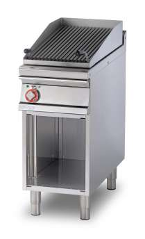 Grill threephase on open cabinet Stainless steel adjustable grill cm. 38x66 (included 1 Head end filler strip mod.TPA-9)