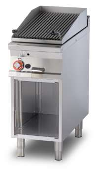 Charcoal grill gas on open cabinet - Stainless steel adjustable grill cm. 38x66 (included 1 Head end filler strip mod.TPA-9)