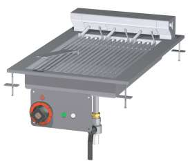 CONTACT Grill threephase - rotable stainless steel grill cm. 27x43
