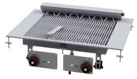 CONTACT Grill threephase - rotable stainless steel grill cm. 55x43 - 2 cooking areas