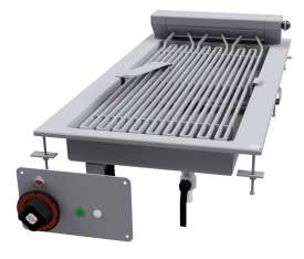 CONTACT Grill threephase - rotable stainless steel grill cm. 27x63