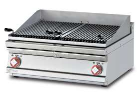 Grill threephase - N. 2 Stainless steel grill cm. 38x52. 2 cooking areas (included 1 Head end filler strip mod.TPA-7)