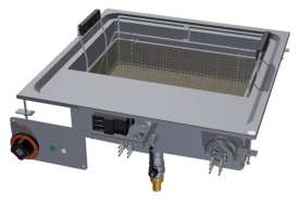 Fryer threephase 23 lts - Bowls cm. 50x35x24h - Basket cm. 46x30x10h - Sieve and lid for pan.