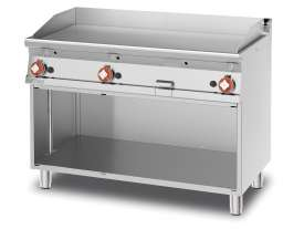 Gas Fry-top smooth griddle, on open cabinet, plate cm.116x51 - 3 cooking areas (included 1 Head end filler strip mod.TPA-7)