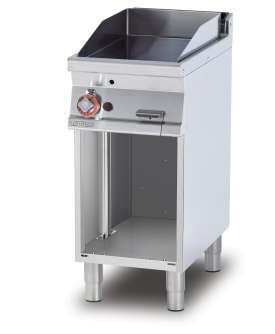 Gas Fry-top smooth griddle, on open cabinet, plate cm.36x51 (included 1 Head end filler strip mod.TPA-7)