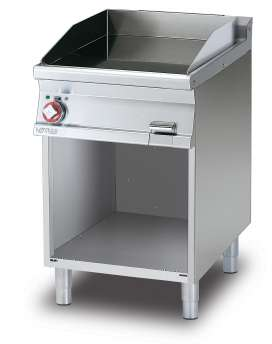 Electric Fry-top smooth griddle, on open cabinet, plate cm.56x51 (included 1 Head end filler strip mod.TPA-7)
