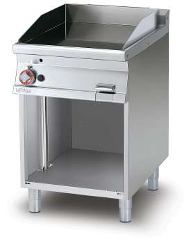 Gas Fry-top smooth griddle, on open cabinet, plate cm.56x51 (included 1 Head end filler strip mod.TPA-7)