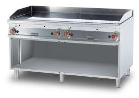 Gas Fry-top smooth griddle, on open cabinet, plate cm.150,5x65 - 4 cooking areas (included 1 Head end filler strip mod.TPA-9)