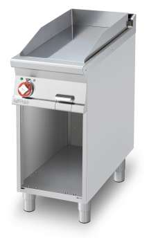 Electric Fry-top smooth griddle, on open cabinet, plate cm.36x68 (included 1 Head end filler strip mod.TPA-9)