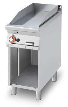 Gas Fry-top smooth griddle, on open cabinet, plate cm.36x68 (included 1 Head end filler strip mod.TPA-9)
