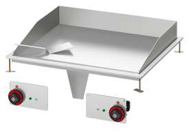 Electric Fry-top smooth griddle, plate cm.75,5x55 - 2 cooking areas