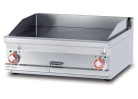 Electric Fry-top smooth griddle, plate cm.76x51 - 2 cooking areas (included 1 Head end filler strip mod.TPA-7)