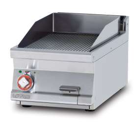 Electric Fry-top grooved griddle, plate cm.36x51 (included 1 Head end filler strip mod.TPA-7)