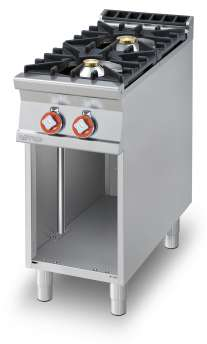 Gas heated boiling unit on open cabinet - 2 burners (included 1 Head end filler strip mod.TPC-9)