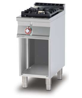 Gas heated boiling unit on open cabinet - 1 burners (included 1 Head end filler strip mod.TPA-7)