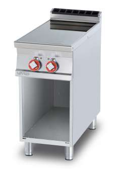 Ceramic glass boiling unit on open cabinet - n. 2 zones - glass cm.35x77 (included 1 Head end filler strip mod.TPA-9)