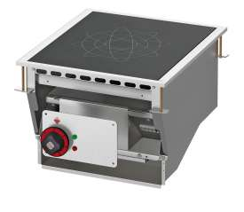 Three-phase induction cooking - 1 zone - glass cm.35x35 (do not place on ovens or drawers)