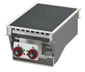 Three-phase induction cooking - 2 zones - glass cm.35x57 (do not place on ovens or drawers)