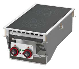 Three-phase induction cooking - 2 zones - glass cm.35x77 (do not place on ovens or drawers)