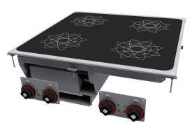Three-phase induction cooking - 4 zones - glass cm.75x77 (do not place on ovens or drawers)