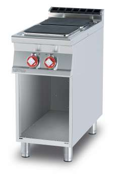 Boiling unit threephase on open cabinet - N. 2 square plates (included 1 Head end filler strip mod.TPA-9)