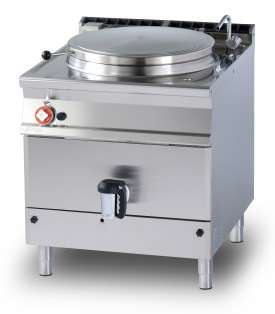 Gas direct boiling pan 100 lts. Tank Ø cm. 60x42h (included 1 Head end filler strip mod.TPA-9)