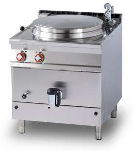 Electric indirect boiling pan 100 lts. Tank Ø cm. 60x42h (included 1 Head end filler strip mod.TPA-9)