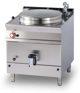 Gas indirect boiling pan 100 lts. Tank Ø cm. 60x42h (included 1 Head end filler strip mod.TPA-9)