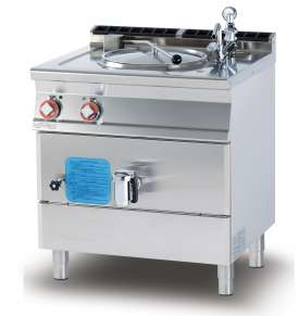 Electric indirect boiling pan 50 lts. Tank Ø cm. 40x45h (included 1 Head end filler strip mod.TPA-7)