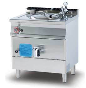 Gas direct boiling pan 50 lts - Tank Ø cm. 40x45h (included 1 Head end filler strip mod.TPA-7)