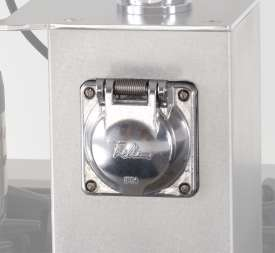 Schuko electrical outlet, 230V~ / 16A chromed metal IP54