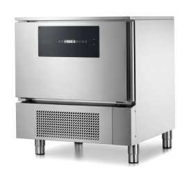 Blast chiller with TOUCHSCREEN for 5 GN1/1. Controlled rapid thawing, core probe. 15kg (+90/+3°C), 10kg (+90/-18°C)