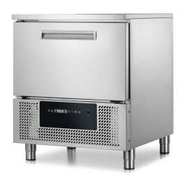 Blast chiller with TOUCHSCREEN for 5 GN1/1. Controlled rapid thawing, core probe. 11kg (+90/+3°C), 9kg (+90/-18°C)