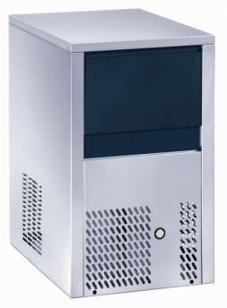 Ice maker - Solid cube 18gr - Air cooling. Electronic control system - production 20 kg in 24h - storage 6 kg.